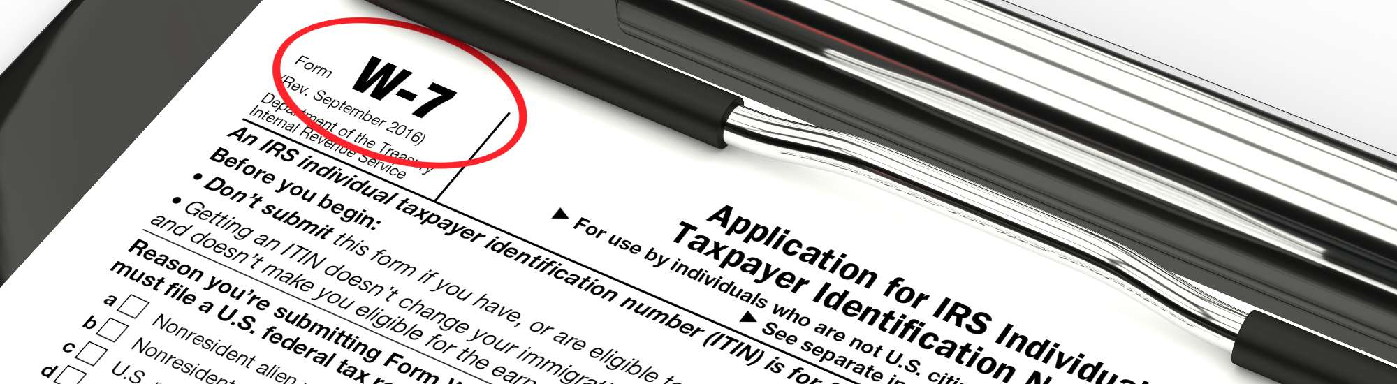 US Tax IQ | IIndividual Taxpayer Identification Number Application