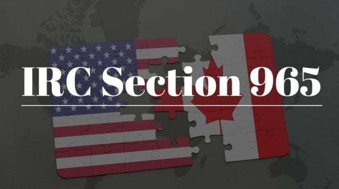 An Overview Of IRC Section 965
