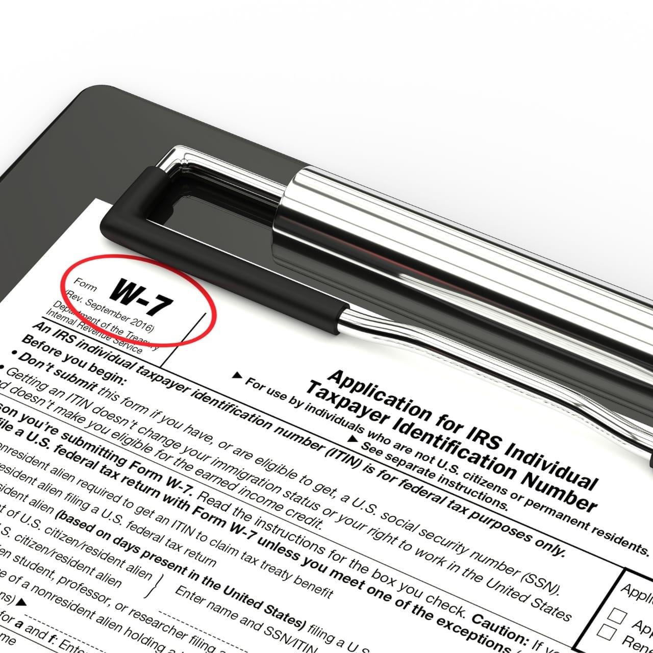 U.S. Tax IQ | ITIN Appplication