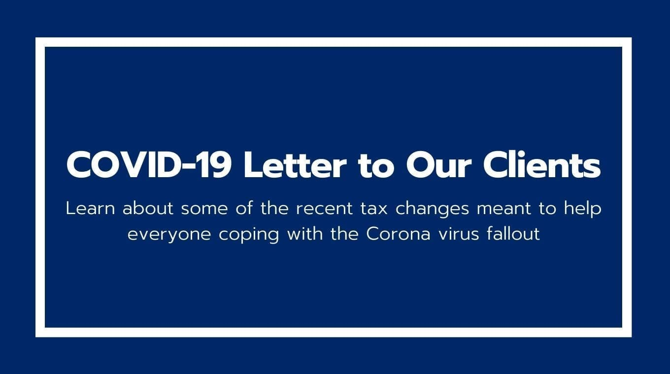 COVID-19 Letter to Our Clients